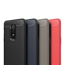Stöttåligt Armor Carbon TPU-skal Oneplus 6 - fler färger Röd