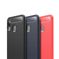Stöttåligt Armor Carbon TPU-skal Samsung A20e - fler färger Svart