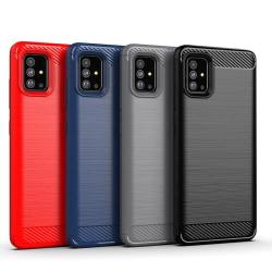Stöttåligt Armor Carbon TPU-skal Samsung A51 - fler färger Svart