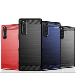Stöttåligt Armor Carbon TPU-skal Sony Xperia 5 - fler färger Blå