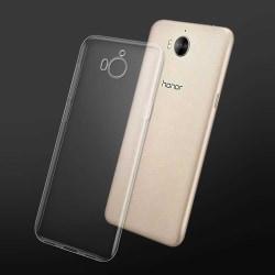 Transparent Silikon TPU-Skal till Huawei Y6 2017 Transparent