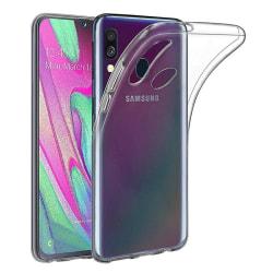 Transparent Silikon TPU-Skal till Samsung A40 Transparent