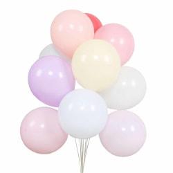100-pack Ballonger 26cm Latex i Blandade Färger Fest Födelsedag flerfärgad