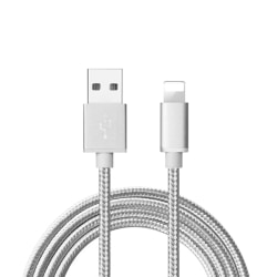 1m Apple iPhone Lightning Quick Charge 3.0 Laddkabel vit