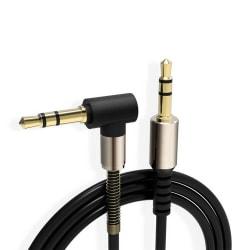 1m AUX 3,5mm Ljudkabel Hörlurskabel Förlängningskabel svart