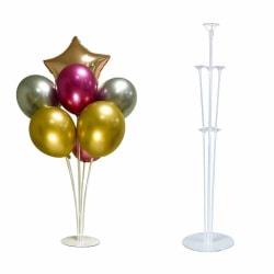 2-Pack Ballongställ Hållare för 7 Ballonger Fest Födelsedag transparent