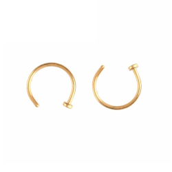 2-pack Guld Fake Piercing Läpp Näsring Septum Läppring utan Hål guld