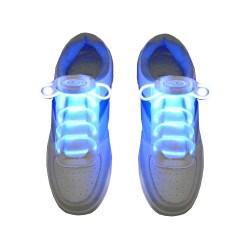 2-pack Lysande Skosnören LED Ljus för Skor Dans Löpning blå