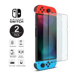 2-pack Nintendo Switch Heltäckande Skärmskydd i Härdat Glas transparent