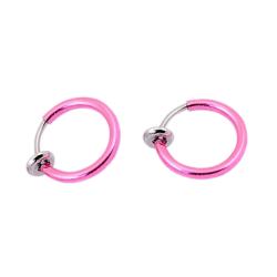 2-pack Rosa Fake Piercing Öron Läpp Näsring Septum Läppring rosa