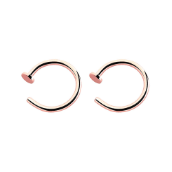 2-pack Rose Guld Fake Piercing Läpp Näsring Septum Läppring utan guld