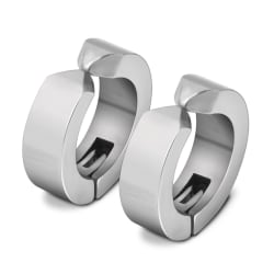 2-pack Silver Fake Piercing Öron Ring Örhänge Metall silver