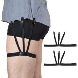 2-pack Skjorthållare Skjorthängslen Håll Skjortan på Plats svart