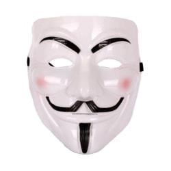 3-pack Guy Fawkes / V för Vendetta / Anonymous Mask vit
