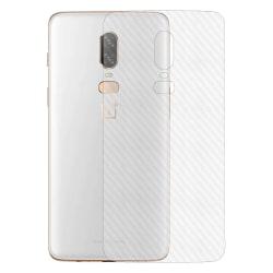 3-pack OnePlus 6 Kolfiber Skin Dekal Skyddsfilm Baksida transparent