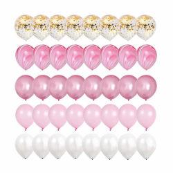 40-pack Ballonger Rosa Guld Konfettiballonger 31cm Födelsedag rosa