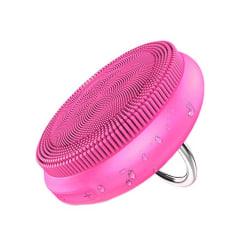 5-i-1 Vibrerande Sonisk Ansiktsborste Ansiktsrengöring Silikon rosa