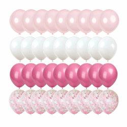 50-pack Ballonger Rosa Konfettiballonger 31cm Födelsedag rosa