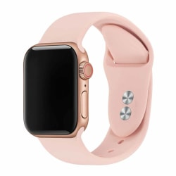 Apple Watch 38/40 1/2/3/4/5/6/SE Rosa Silikonarmband Silikon rosa