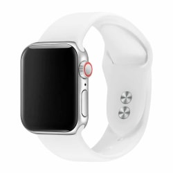 Apple Watch 38/40 1/2/3/4/5/6/SE Vitt Silikonarmband Silikon vit