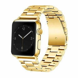 Apple Watch 42/44 1/2/3/4/5 Stainless Metall Guld Klockarmband guld