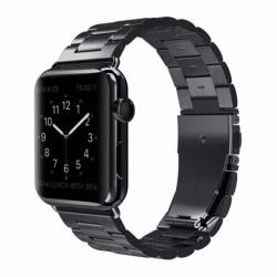 Apple Watch 42/44 1/2/3/4/5 Stainless Metall Svart Klockarmband svart