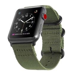 Apple Watch 42/44 Nylonarmband Natoarmband Grön grön