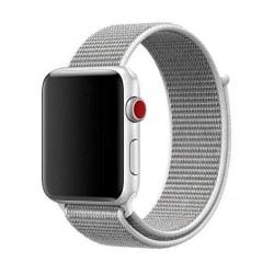 Apple Watch Ljusgrå Nylonarmband Sportloop Kardborreband 42/44 grå 42/44