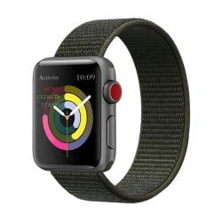 Apple Watch Militärgrönt Cargo Nylonarmband Kardborreband 38/40 grön 38/40
