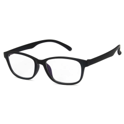 Avlånga Mattsvarta Datorglasögon med Blåljusfilter utan Styrka svart
