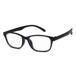 Avlånga Svarta Datorglasögon med Blåljusfilter utan Styrka svart