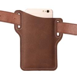 Bälteshållare för Mobiltelefon i Läder - Brun brun
