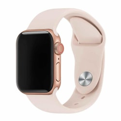 Rosa Beige Apple Watch 1/2/3/4/5/6/SE Klockarmband Silikon 38/40 rosa 38/40