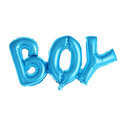 Boy Pojke Ballong Baby Shower Gender Reveal Folieballong blå