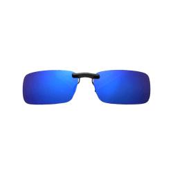 Clip-on Solglasögon Blå - Fäst på befintliga Glasögon blå