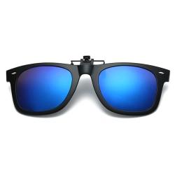 Clip-on Wayfarer Solglasögon Blå - Fäst på befintliga Glasögon! svart
