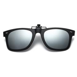 Clip-on Wayfarer Solglasögon Spegelglas för Befintliga Glasögon svart