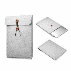 Datorfodral Laptopfodral Sleeve Grå Filt - 15,6 Tum grå