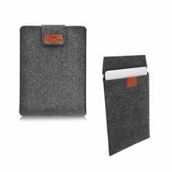 Datorfodral Laptopfodral Sleeve Mörkgrå Filt Kardborre - 15 Tum grå