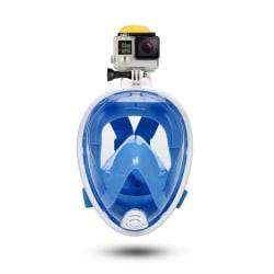 Dykmask Cyklop med Kamerafäste för GoPro Actionkamera S/M blå