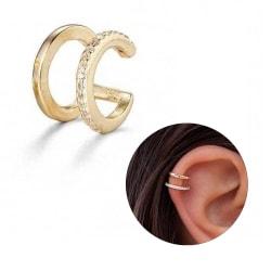 Fake Helix Piercing Öron Örhänge Ear Cuff utan Hål Guld guld
