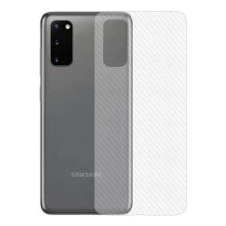 Galaxy S20 Kolfiber Vinyl Skin Dekal Skyddsfilm Baksida Carbon transparent