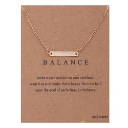 Gåvohalsband Guld Balans/Balance Kedja Hänge guld