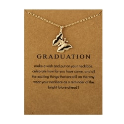 Gåvohalsband Guld Examen/Graduation Kedja Hänge guld