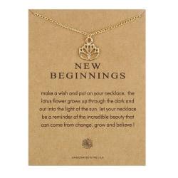 Gåvohalsband Guld New Beginnings Kedja Hänge guld