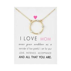 Gåvohalsband I Love Mom Mamma Mor Mors dag Halsband Guld guld