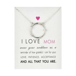 Gåvohalsband I Love Mom Mamma Mor Mors dag Halsband Silver silver