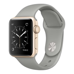 Grå Apple Watch 1/2/3/4/5/6/SE Klockarmband Silikon 42/44 grå 42/44