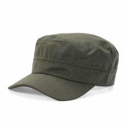 Grön Army Keps - Platt Armekeps Militärkeps grön one size