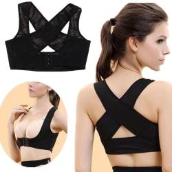 Hållningsväst för Kvinnor Ryggstöd för Bättre Hållning svart one size